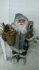 NEU Weihnachtsmann Santaclaus Nikolaus Ski Geschenkesack Shabby Landhaus Bär