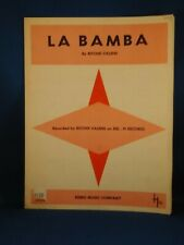RITCHIE VALENS La Bamba VINTAGE SHEET MUSIC 1958