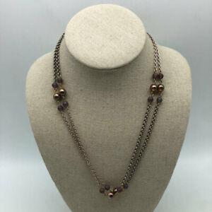 Sabika Silver Rhinestone Necklace