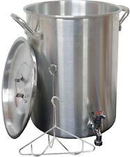 King Kooker 30 Qt. Aluminum Turkey Pot with Spigot Lid Lifting Rack and Hook