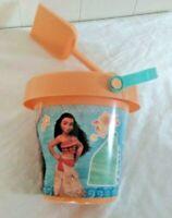 "new Unisex Kid's Disney Moana  6"" Sand Bucket Pail and Sand Shovel-"