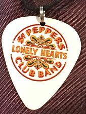 THE BEATLES Guitar Pick Necklace Music Sgt. Pepper's Lonely Hearts Club Band