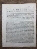 Robespierre 1791 Cazalès Fréteau Rare Journal Royaliste L'ami du Roi Freron