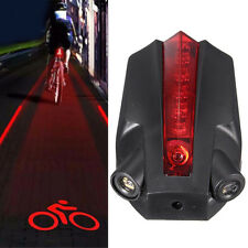 5 LED Laser Rücklicht Fahrrad Lampe Fahrradlicht Beleuchtung Lampe mit 2 Laser #