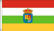 LA RIOJA FLAG IN 5X3 - RED YELLOW GREEN WHITE STRIPE W/ CREST - SPANISH PROVENCE