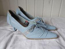 Chaussures talons fin lacets cuir bleu ciel DIESEL 36 4UK 6US Semelle caoutchouc