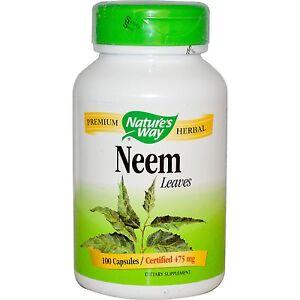 Neem Leaves, 100 Capsules - Nature's Way