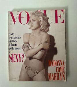MADONNA VOGUE ITALIA  FEB 1991 - MADONNA as Marilyn Monroe by Steven Meisel Rare