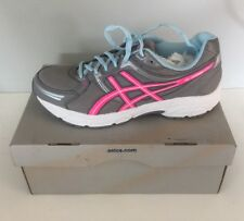 New Woman's Asics T2N8Q Gel-Contended Running Shoes Size 11,Aluminium/Neon pink/