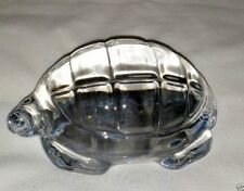 Vintage Signed Baccarat France Crystal Art Glass Turtle Tortoise Paperweight