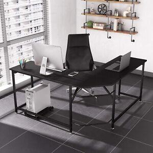 Computertisch L-Form Eckschreibtisch Winkelschreibtisch Schreibtisch PC Tisch DE