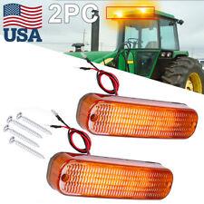 2x Amber Led Work Light Bar Upper For John Deere 4055 4255 4455 4555 4755 4955