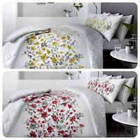 Dreams & Drapes GABRIELLA Rich Floral Band & Leaf Reverse Duvet Cover / Bedding