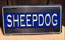 Sheepdog Thin Blue Line Wholesale Metal Novelty Wall Decor License Plate