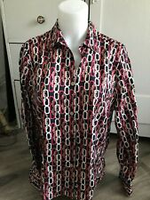 Allison Daley Petite Blouse Chain Links Pink White and Black Size 14P