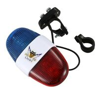 Bicycle Cycling 4 Tones 6 LED Electronic LED Warning Lights Siren Horn Bee Z8B7