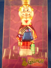 "* Grinch Cindy With Blue Purse * Dr Seuss Blown Glass New Ornament 5"" -Rare-"