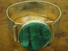 835 Silver Ring & Bangle with Malachite Decorations Jewelry Set / Real