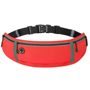 Sports Waist Pack Belt 3 Pockets Fanny Pack for Hiking Running Cycling Travel