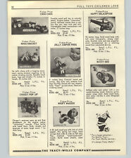 1955 PAPER AD Fisher Price Toys Train From Cricket Bee Helicopter Donald Duck