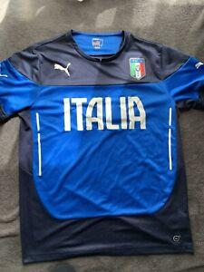 Puma Italy Soccer Jersey Blue Adult, L