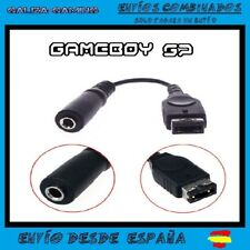 Cable Adaptador Auriculares Jack 3.5 mm Game Boy Advance SP GBA  Gameboy Audio