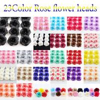 10/20Pc Artificial Fake Small Rose Silk Flower Head DIY Wedding Party Home Decor
