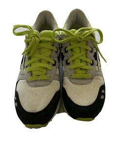 Ascis Gel Lyte iii Men's Gray Green Black Off White Sneaker Size 8