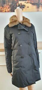 Moncler Winter Jacke  Mantel mit Echtfell  Damen Gr.1,passt an Gr.34-36 ,S-M