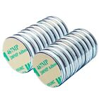 10 Pack Neodymium Magnets Large 1' Inch Strong Rare Earth with Adhesive Backing