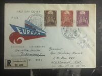 1957 Luxembourg First Day Cover FDC To Welland Canada Pax Europe