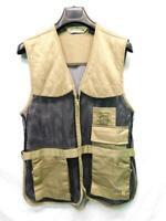 Bob Allen S M Brown Black Mesh Shooting Vest Full Zip Pockets Quilted Shoulders