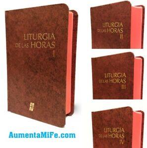 Liturgia de las Horas Rito Romano Set de 4 Tomos Vol 1, 2, 3 y 4 (I II III IV)