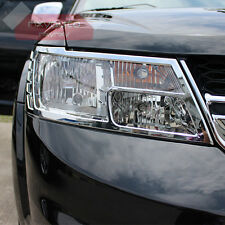 Front Light Chrome Cover Trim For Dodge Journey Fiat Freemont 13-16