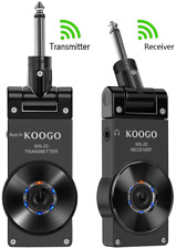 Koogo Guitar Wireless System with Rechargeable 2.4Ghz Digital Guitar Transmitter
