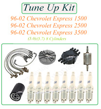Tune Up For 96-02 Chevrolet Express 1500-3500 v8: SparkPlug Wireset Cap Rotor Oi