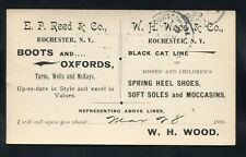 postcard ADVERTISING Black Cat Shoes Moccasins Rochester NEW YORK Monroe County