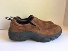Women's CABELAS Brown Suede Leather Slip-On Shoes Size 8 M Clog Mule