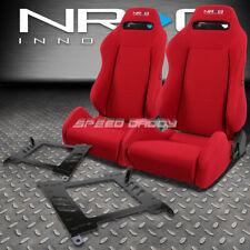 NRG TYPE-R RED RECLINABLE RACING SEAT+BRACKET FOR 00-05 HONDA S2000 S2K AP1/AP2