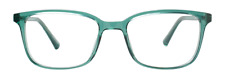 NEW Eco Ganges Teal Green Shiny Crystal Unisex Recycled Plastic Eyeglasses 48-17