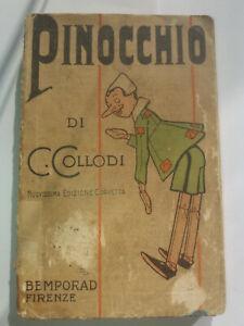 RARO LIBRO PINOCCHIO DI C. COLLODI BEMPORAD FIRENZE