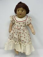 "Vintage Madame Alexander Little Women ""Meg"" Cloth Doll 1930's Rare 16"""