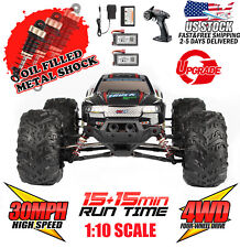 Hosim 1:10 4WD 2.4Ghz RC Monster Truck Off-road Remote Control Car Upgraded 9125