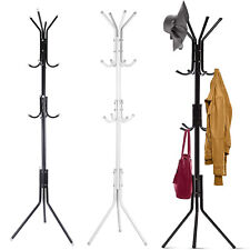 12 Hooks Metal Houseware Standing Coat Hat Hanger Organizer Rack 5.7ft 3 Tiers