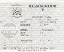 Ticket - Kilmarnock v Rangers 08.02.2004 Scottish Cup
