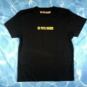 NEW - De Puta Madre Crew Neck Black Logo T Shirt - Size XL