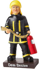 """BRUBAKE Trophy Cup Fire Fighter Figur Figurine with Base 6"""" Gift Idea Fireman"""