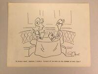 Original Gag Panel Comic Strip Cy Olson Cartoon SIGNED 1960s 6