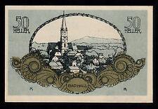 Bad Hall (OÖ) -Gemeinde- 50 Heller Wertziffern ohne Unterdruck (JP 76 II)