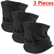 3 Pcs Multi-use Tube Scarf Bandana Head Face Mask Neck Gaiter Head Wear Black